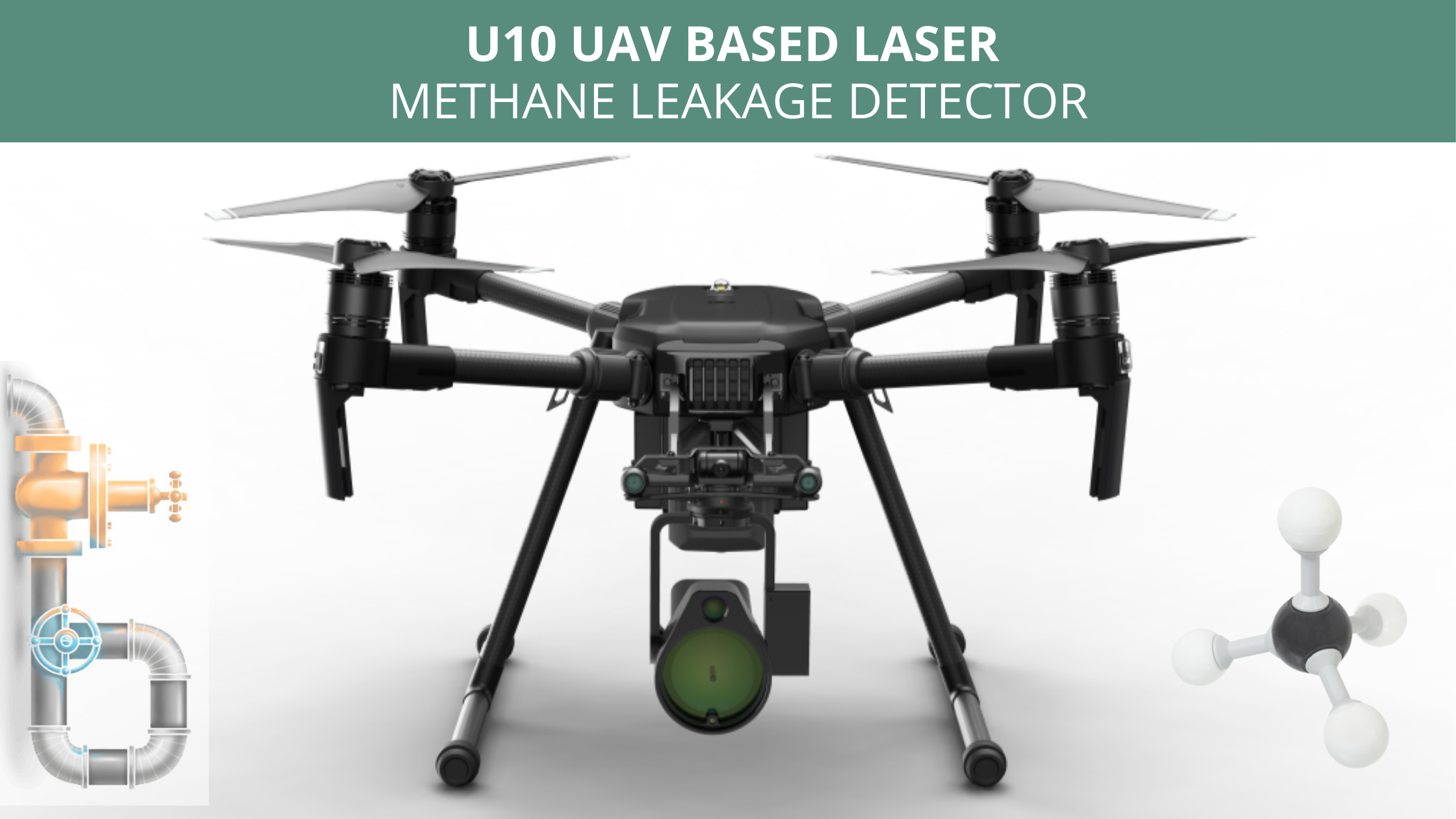 U10 UAV Based Laser Methane Leakage Detector