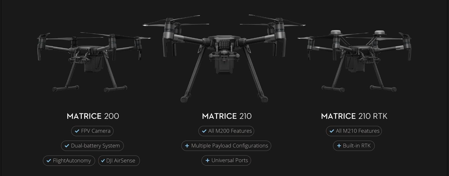 DJI Matrice 200 Series Quick Model Comparison