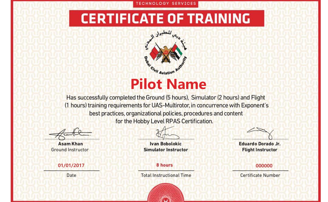 Training Certificate For Dcaa